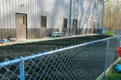 Completed installation of rubber mulch at Bright Beginnings Daycare, funded by the Foundation's Community Support Grant.