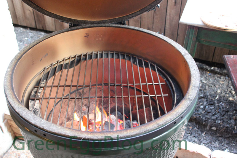 Steak Setup for the Big Green Egg