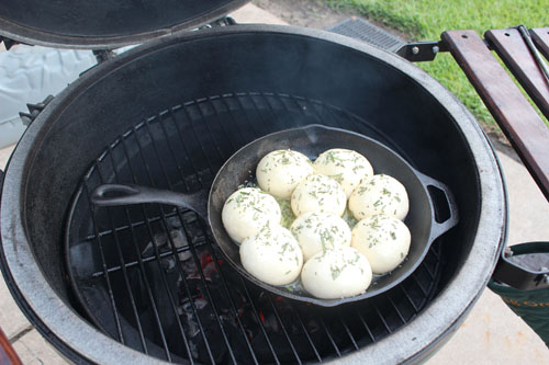 Rosemary Sea Salt Dinner Rolls on the BGE