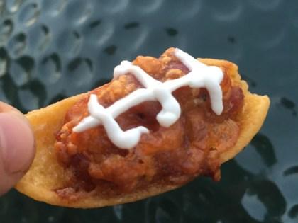 Sausage Stuffed Frito Footballs