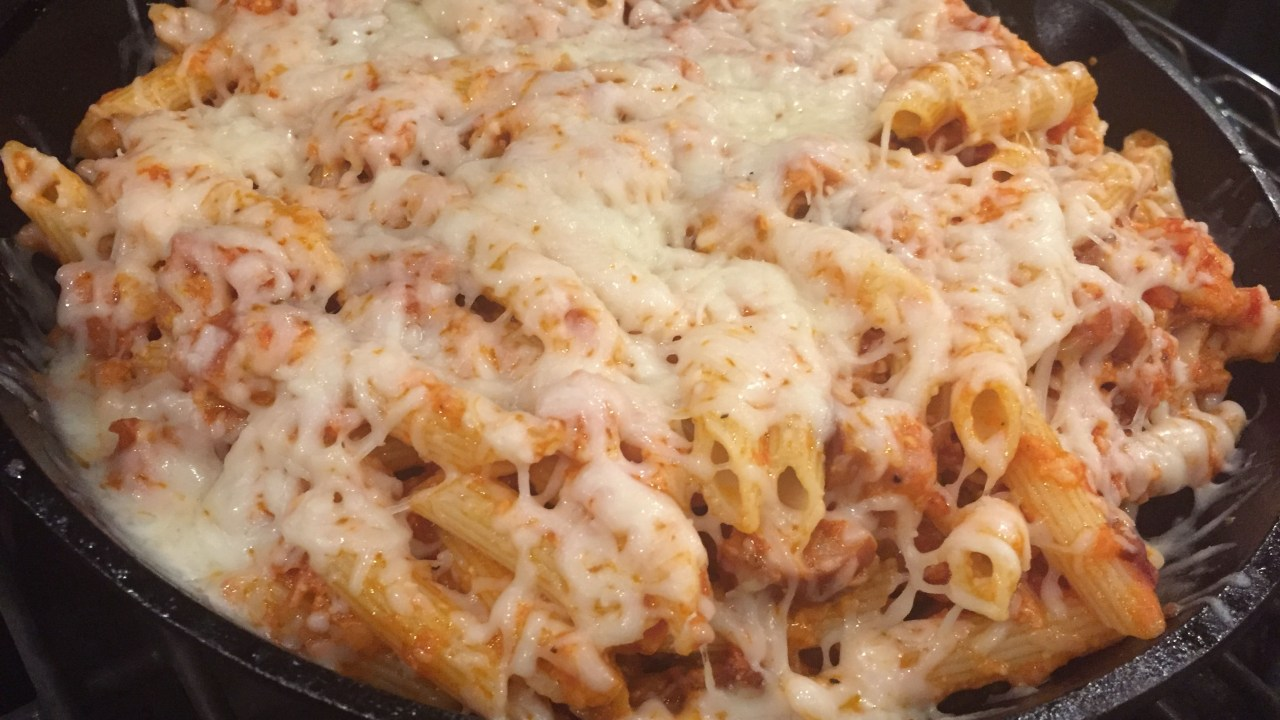 Baked Penne getting melty