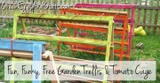 Garden Trellis & Tomato Cage built out of pallets