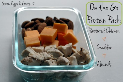 Protein Pack: Almonds, Cheddar Cheese, Chicken