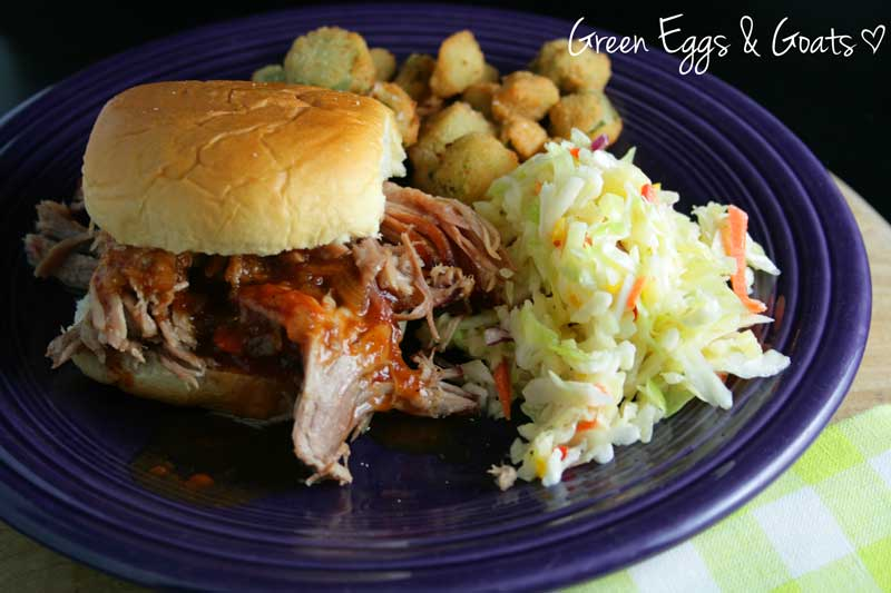 Pulled Pork BBQ with homemade barbecue sauce