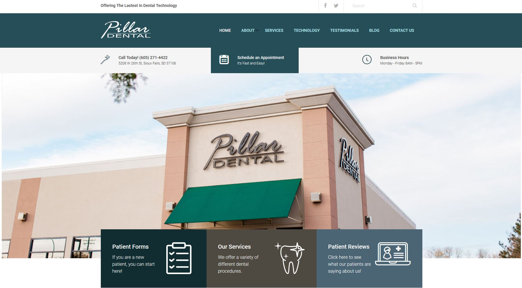pillar-dental-website