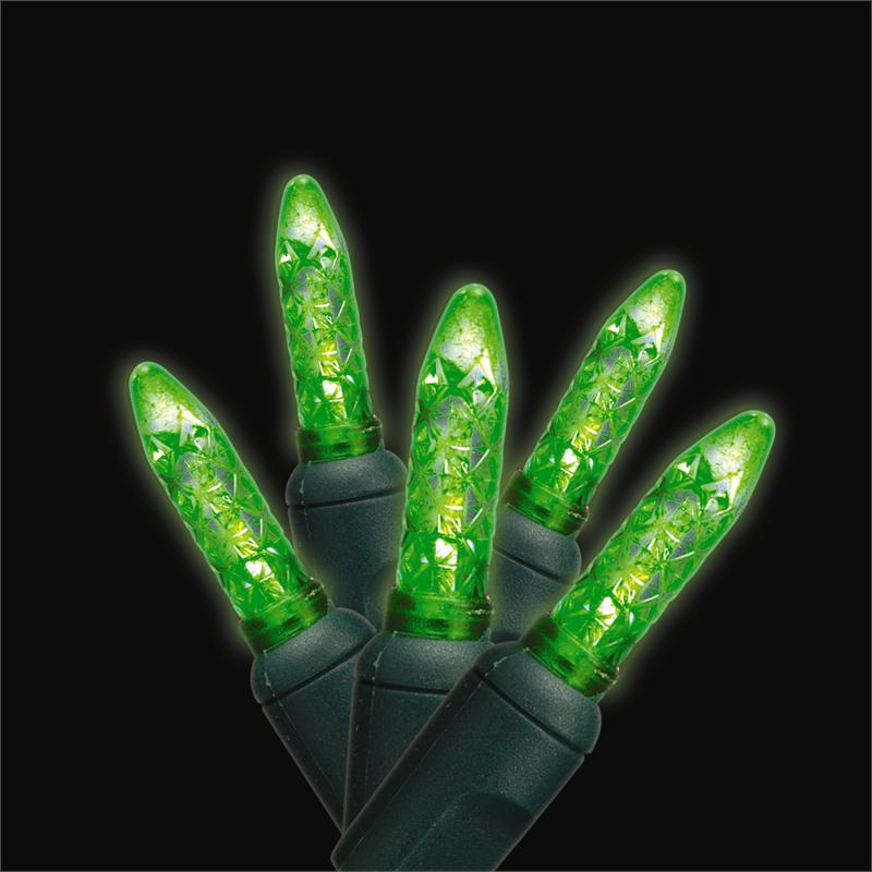 green led traditional m5 mini shaped commercial christmas holiday string lights