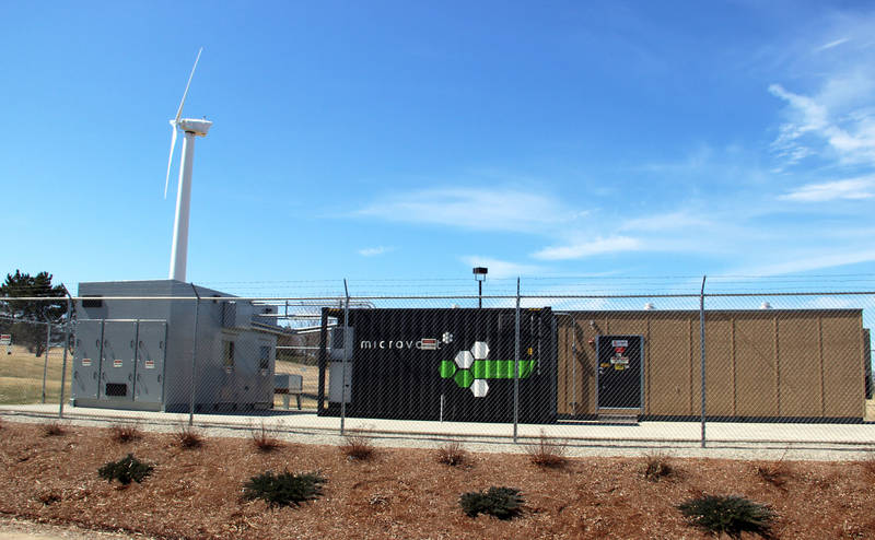 Equipment in Dynapower's micro-grid in South Burlington, Vermont