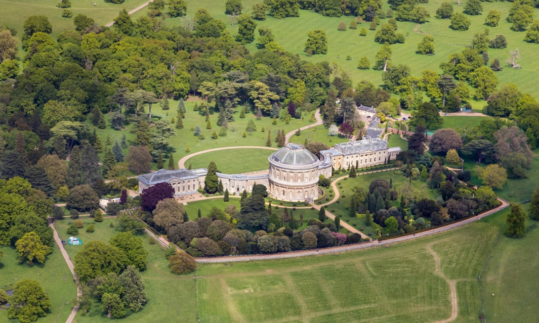 A biomass boiler will heat the entire property at Ickworth House, a Georgian mansion, 680 feet long, in Suffolk, UK. Photograph: David J. Green/Alamy.