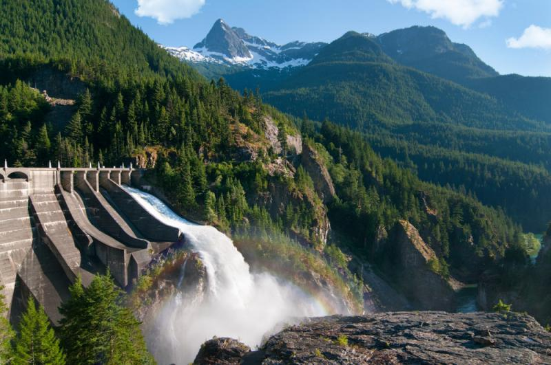 Diablo Dam, generating power for Seattle (Image credit: Getty Images via GE Reports)