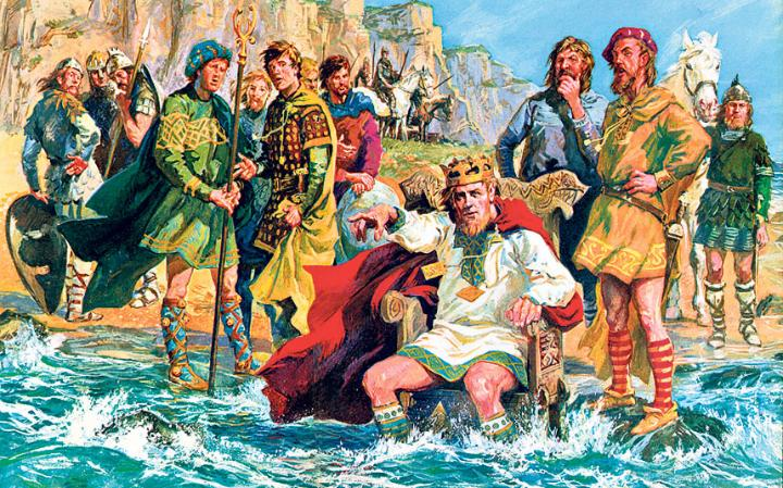 King Canute, trying to stop the tide
