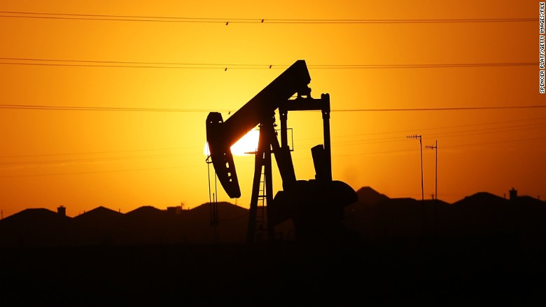 Pumpjack at dawn