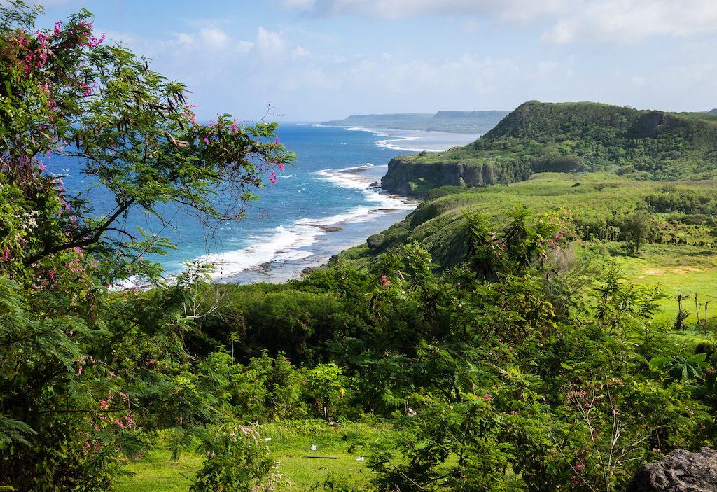 Island coast at Yona, Guam in Micronesia