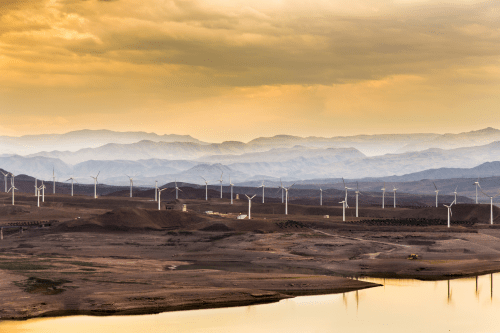 Wind turbines in northwestern Iran (Shutterstock image)