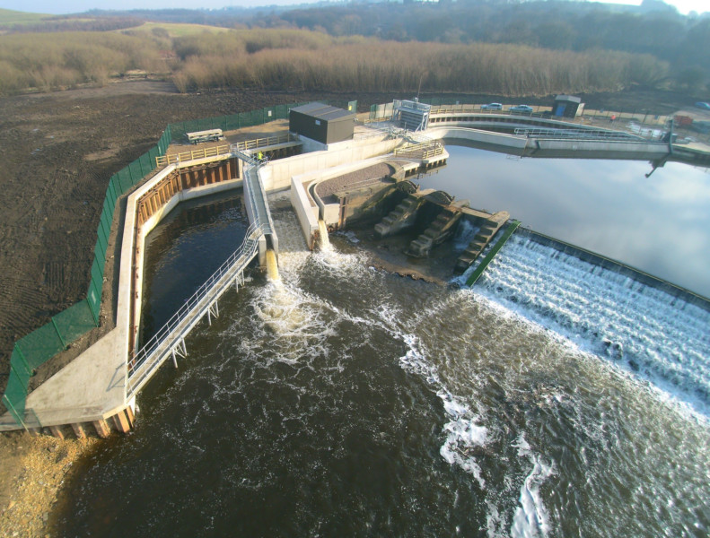Barn Energy's hydro plant at Thrybergh Weir on the River Don