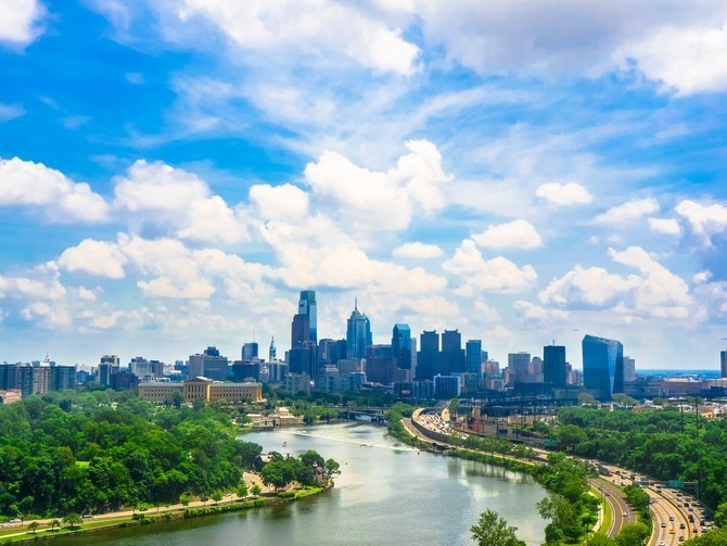Philadelphia, moving to 100% clean energy (Shutterstock image)