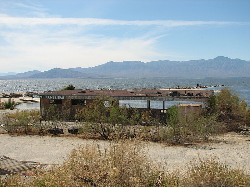 Abandoned Salton Sea bait shop (Conn, Kit | Wikimedia Commons)