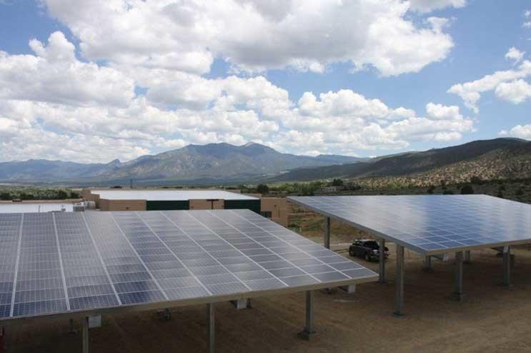 Solar array in New Mexico