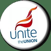 Unite the union badge