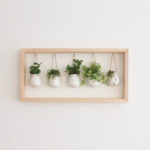 Wooden Framed Indoor Herb Garden Apartment Living [tag]