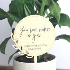 Mother's Day Personalised Pot Plant Stick Gift Ideas