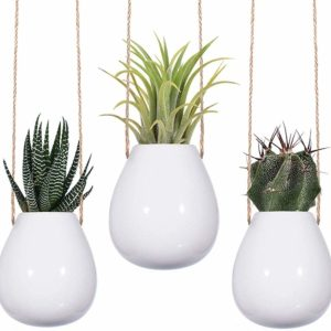 Ceramic Hanging Vases Set Apartment Living amazonaustralia