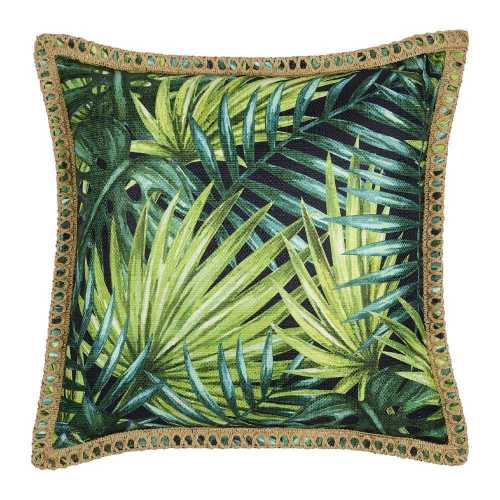 KOO Home Tropics Printed Leaf Cushion By Spotlight Accessories and Curiosities