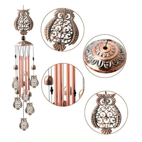 Retro Owl Design Wind Chimes Accessories and Curiosities