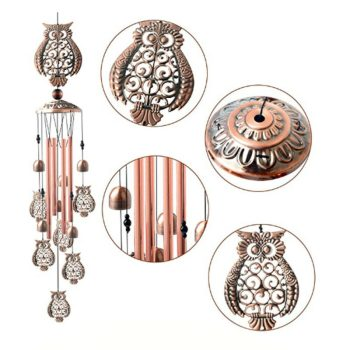 Retro Owl Design Wind Chimes Accessories