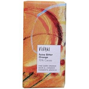 σοκολάτα μαύρη πορτοκάλι vivani