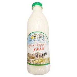 βιολογικό αγελαδινό ελαφρύ γάλα λιβαδερό
