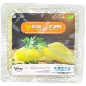 βιολογικό τυρί gouda light σε φέτες