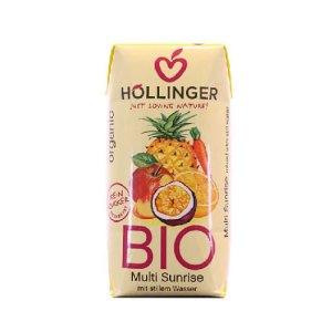 Βιολογικός χυμός κοκτέιλ φρούτων SUNRISE της HOLLINGER