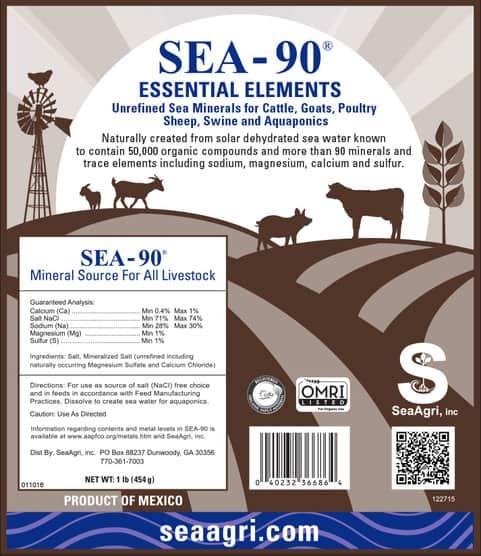 Sea Minerals For Livestock