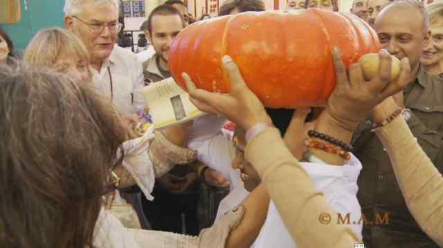 Amma holding a huge marrow