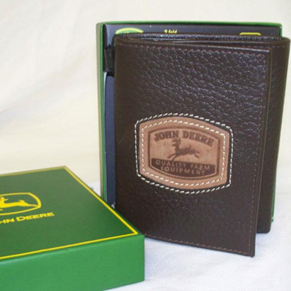 John Deere Tri Fold Wallet With Historical Logo 4053000