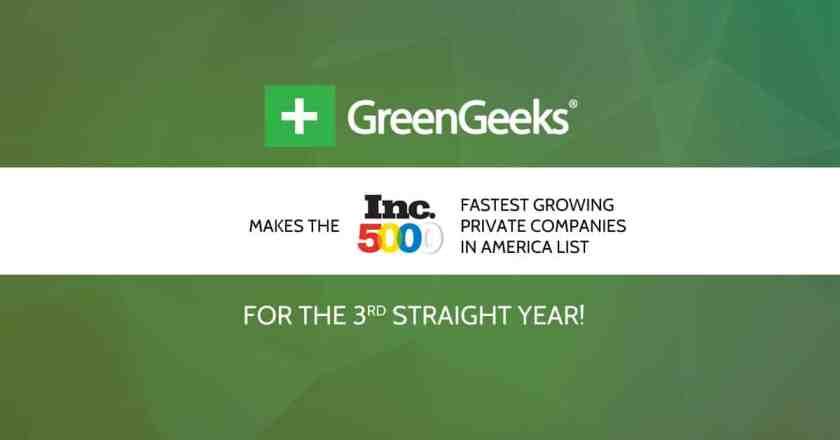 GreenGeeks 2015 INC 5000