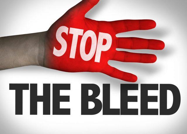 Image result for bleeding from major BLOOD vessels