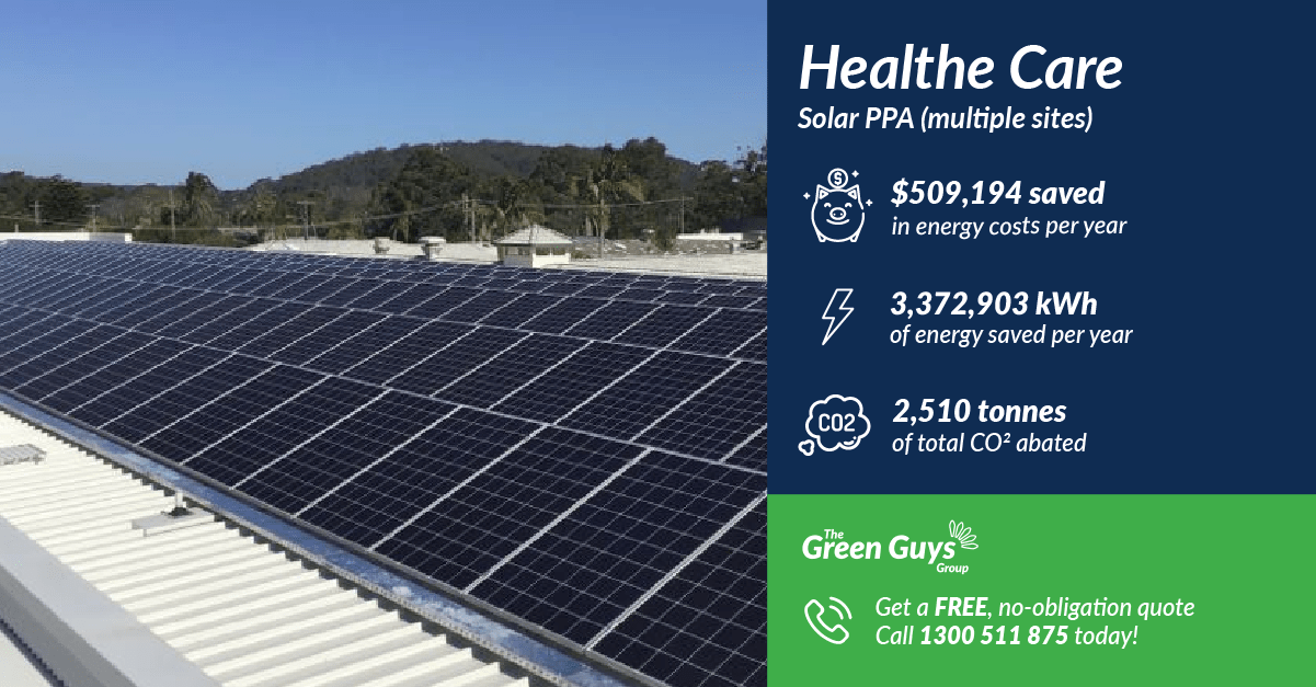 The Green Guys Group - Solar PPA - Healthe Care