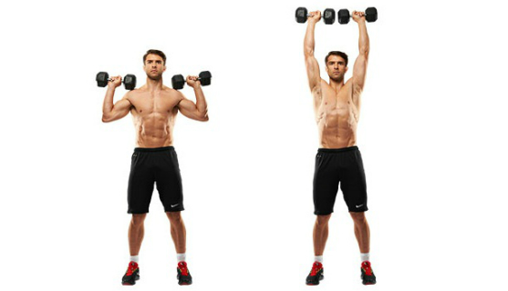 Dumbbell shoulder exercise