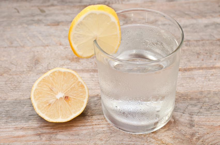 Warm water with Lemon toward the beginning of the day