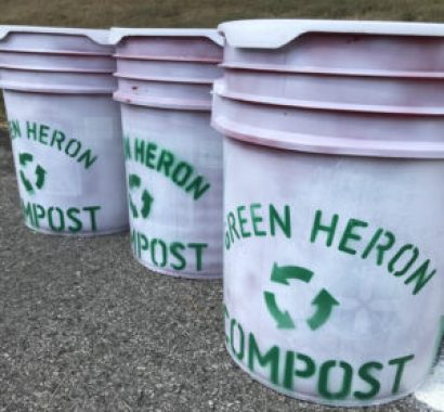 Green Heron Compost bins charity