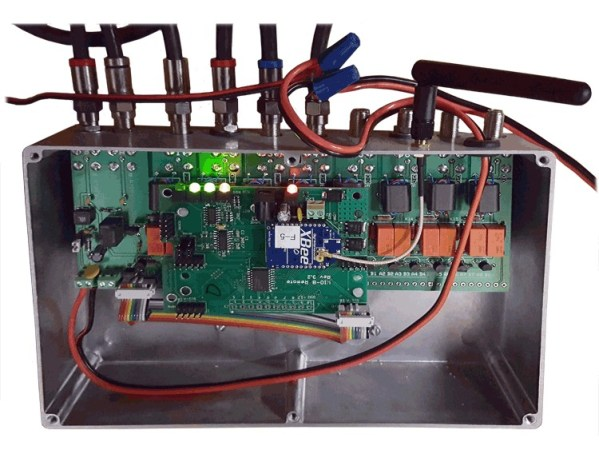 GHE RX8-2 Wireless Remote RX Only Antenna Switch Interior - Green Heron Engineering