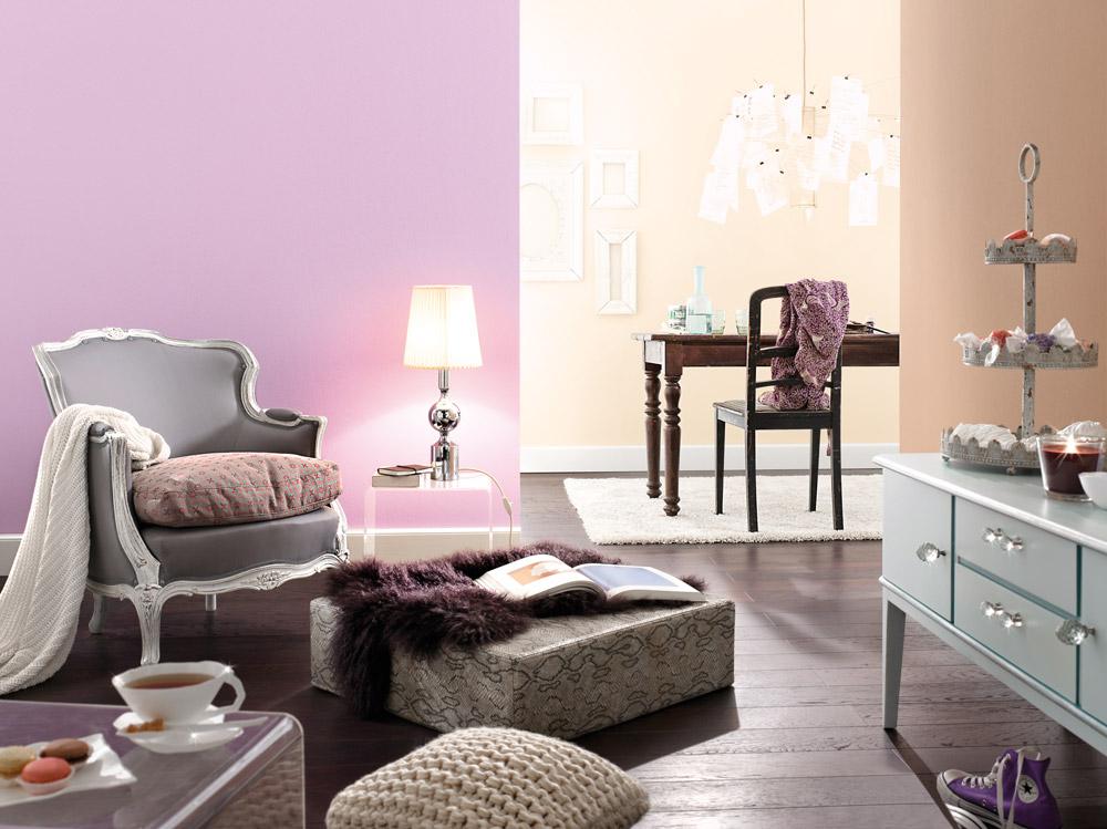 wandgestaltung in grau und türkis – 25 ideen, wie die farben, Wohnzimmer dekoo