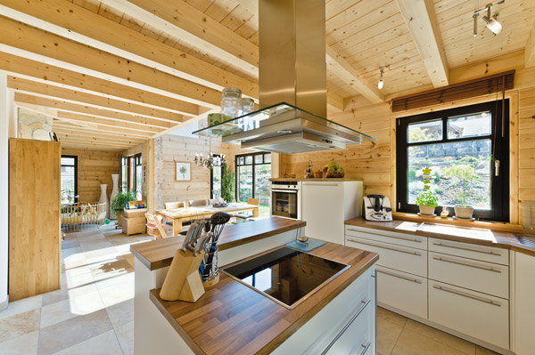 Moderne holzhaus idylle greenhome for Moderne bauweise