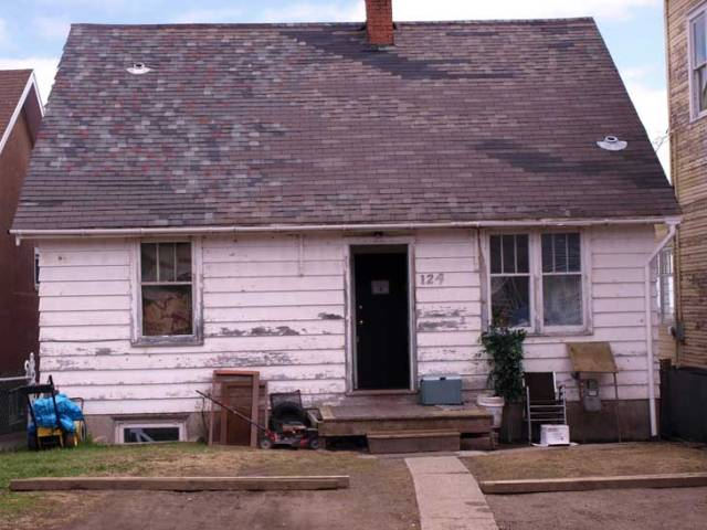 House with broken roof