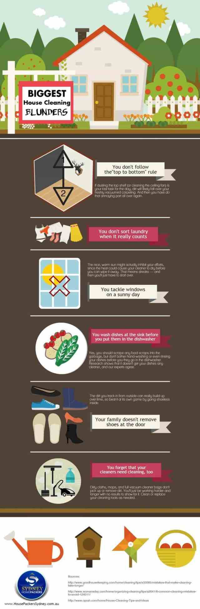 House Cleaning Tips - infographic
