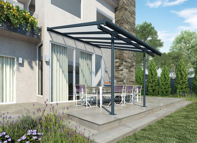 palram sierra 3m patio cover in 3 lengths grey
