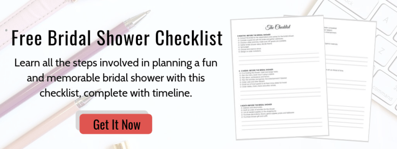 Free bridal shower checklist from memorable bridal shower freebie library