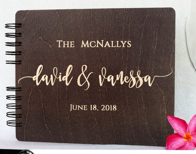 Personalized bridal shower guest book
