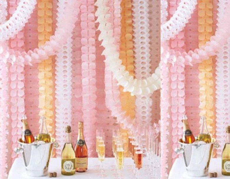 Flower garlands make perfect bridal shower ideas